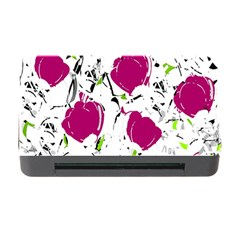 Magenta Roses Memory Card Reader With Cf by Valentinaart