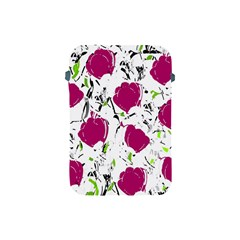 Magenta Roses Apple Ipad Mini Protective Soft Cases by Valentinaart