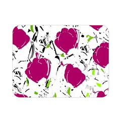 Magenta Roses Double Sided Flano Blanket (mini)  by Valentinaart
