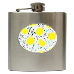 Yellow Roses 2 Hip Flask (6 Oz) by Valentinaart