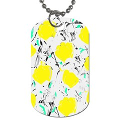 Yellow Roses 2 Dog Tag (two Sides) by Valentinaart