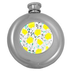 Yellow Roses 2 Round Hip Flask (5 Oz) by Valentinaart