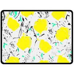 Yellow Roses 2 Fleece Blanket (large)