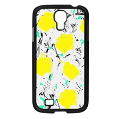 Yellow Roses 2 Samsung Galaxy S4 I9500/ I9505 Case (black) by Valentinaart