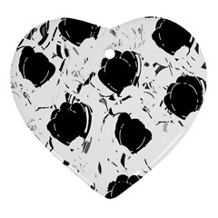 Black Roses Heart Ornament (2 Sides) by Valentinaart
