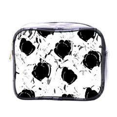 Black Roses Mini Toiletries Bags by Valentinaart