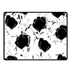 Black Roses Fleece Blanket (small)