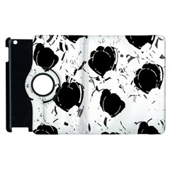 Black Roses Apple Ipad 3/4 Flip 360 Case by Valentinaart