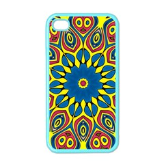 Yellow Flower Mandala Apple Iphone 4 Case (color) by designworld65