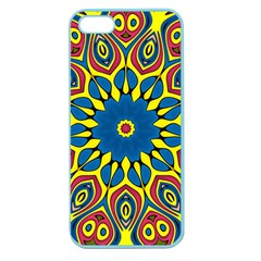 Yellow Flower Mandala Apple Seamless Iphone 5 Case (color) by designworld65