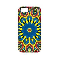 Yellow Flower Mandala Apple Iphone 5 Classic Hardshell Case (pc+silicone) by designworld65