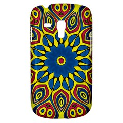 Yellow Flower Mandala Samsung Galaxy S3 Mini I8190 Hardshell Case by designworld65