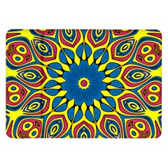 Yellow Flower Mandala Samsung Galaxy Tab 8 9  P7300 Flip Case by designworld65