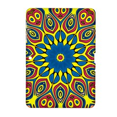 Yellow Flower Mandala Samsung Galaxy Tab 2 (10 1 ) P5100 Hardshell Case  by designworld65