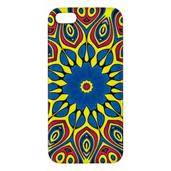 Yellow Flower Mandala Iphone 5s/ Se Premium Hardshell Case by designworld65