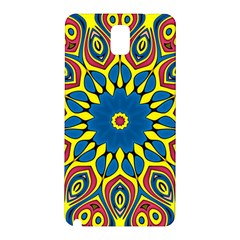 Yellow Flower Mandala Samsung Galaxy Note 3 N9005 Hardshell Back Case by designworld65