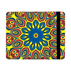 Yellow Flower Mandala Samsung Galaxy Tab Pro 8 4  Flip Case by designworld65