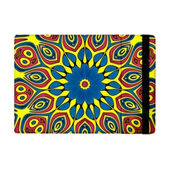 Yellow Flower Mandala Ipad Mini 2 Flip Cases by designworld65