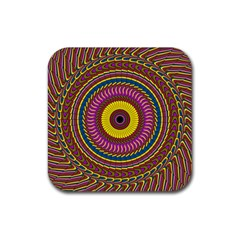 Ornament Mandala Rubber Coaster (square)  by designworld65