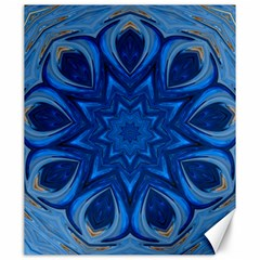 Blue Blossom Mandala Canvas 20  X 24   by designworld65