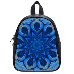Blue Blossom Mandala School Bags (small)  by designworld65