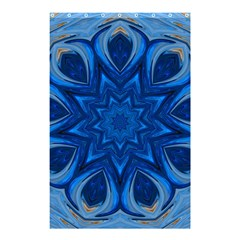 Blue Blossom Mandala Shower Curtain 48  X 72  (small)  by designworld65