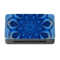 Blue Blossom Mandala Memory Card Reader With Cf by designworld65