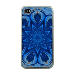 Blue Blossom Mandala Apple Iphone 4 Case (clear) by designworld65