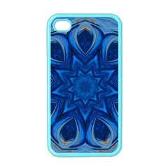 Blue Blossom Mandala Apple Iphone 4 Case (color) by designworld65