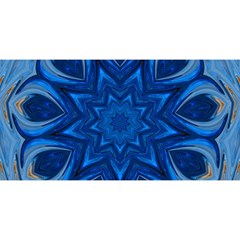 Blue Blossom Mandala You Are Invited 3d Greeting Card (8x4) by designworld65
