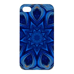 Blue Blossom Mandala Apple Iphone 4/4s Hardshell Case by designworld65
