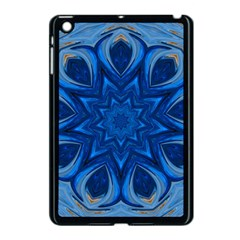 Blue Blossom Mandala Apple Ipad Mini Case (black) by designworld65