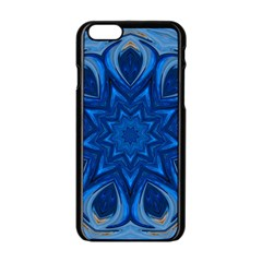 Blue Blossom Mandala Apple Iphone 6/6s Black Enamel Case by designworld65