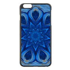 Blue Blossom Mandala Apple Iphone 6 Plus/6s Plus Black Enamel Case by designworld65