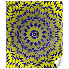 Yellow Blue Gold Mandala Canvas 20  X 24   by designworld65