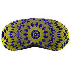 Yellow Blue Gold Mandala Sleeping Masks by designworld65