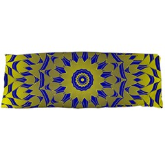 Yellow Blue Gold Mandala Body Pillow Case (dakimakura) by designworld65