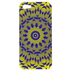 Yellow Blue Gold Mandala Apple Iphone 5 Hardshell Case by designworld65