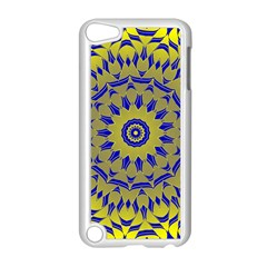 Yellow Blue Gold Mandala Apple Ipod Touch 5 Case (white) by designworld65