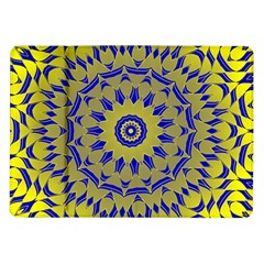 Yellow Blue Gold Mandala Samsung Galaxy Tab 10 1  P7500 Flip Case by designworld65