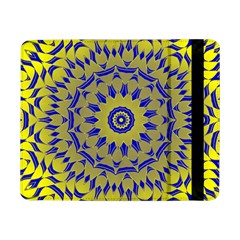 Yellow Blue Gold Mandala Samsung Galaxy Tab Pro 8 4  Flip Case by designworld65