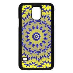 Yellow Blue Gold Mandala Samsung Galaxy S5 Case (black) by designworld65