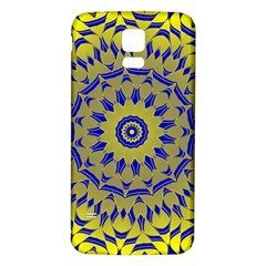 Yellow Blue Gold Mandala Samsung Galaxy S5 Back Case (white) by designworld65