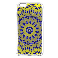 Yellow Blue Gold Mandala Apple Iphone 6 Plus/6s Plus Enamel White Case by designworld65