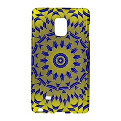 Yellow Blue Gold Mandala Galaxy Note Edge by designworld65