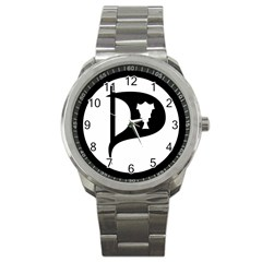 Pirate Party Of Iceland Logo Sport Metal Watch by abbeyz71