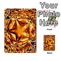 Elegant Gold Copper Shiny Elegant Christmas Star Playing Cards 54 Designs  by yoursparklingshop