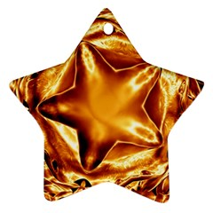 Elegant Gold Copper Shiny Elegant Christmas Star Star Ornament (two Sides)  by yoursparklingshop