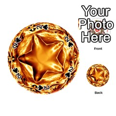 Elegant Gold Copper Shiny Elegant Christmas Star Playing Cards 54 (round)  by yoursparklingshop