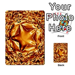 Elegant Gold Copper Shiny Elegant Christmas Star Multi Purpose Cards (rectangle)